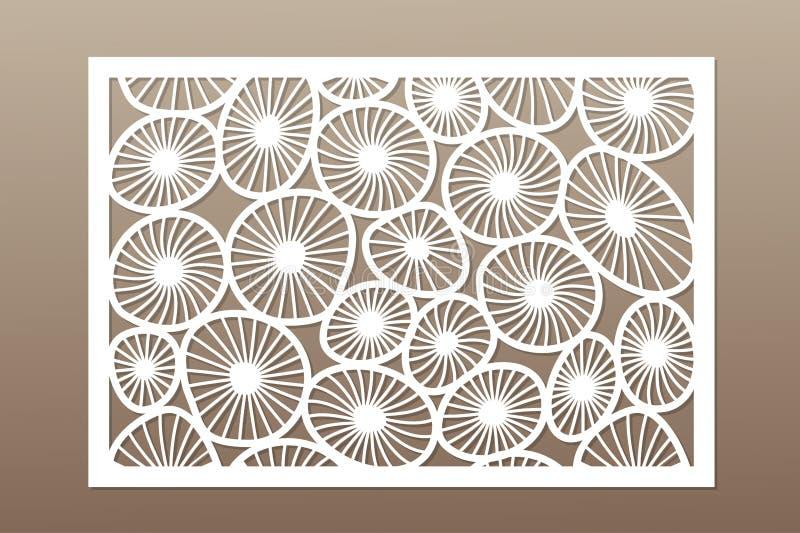 Malplaatje voor knipsel Rond kunstpatroon Laserbesnoeiing Vastgestelde verhouding 2:3 Vector illustratie vector illustratie