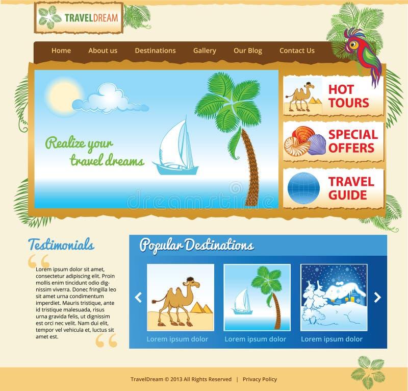 Malplaatje voor overzeese reiswebsite stock illustratie
