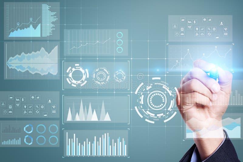Malplaatje voor tekst, Virtuele het schermachtergrond Zaken, Internet-technologie en voorzien van een netwerkconcept stock illustratie