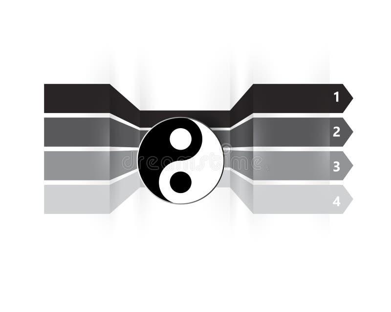 Malplaatje voor uw bedrijfspresentatie met tekstgebieden voor grafische informatie stock illustratie