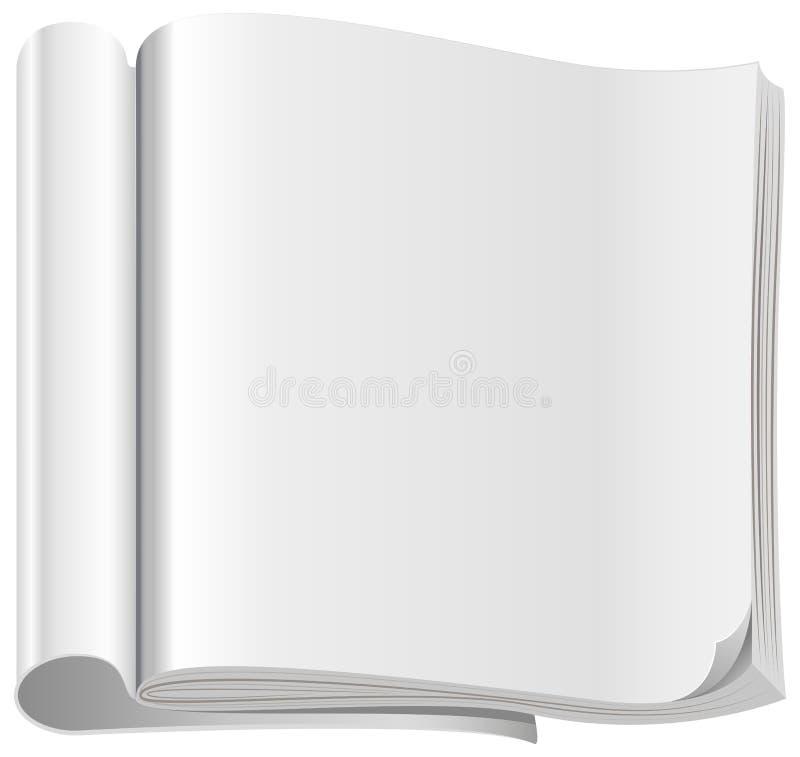 Malplaatje wit open tijdschrift royalty-vrije illustratie