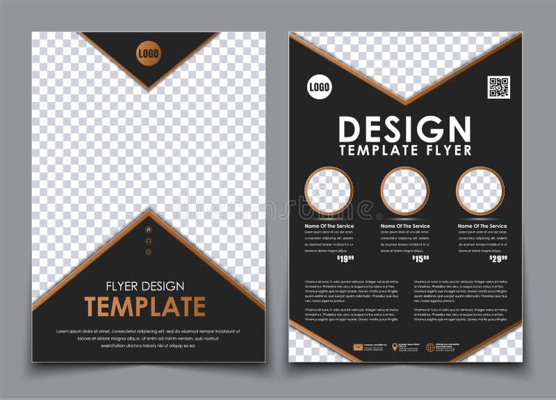 Malplaatje zwarte A4 brochures stock illustratie