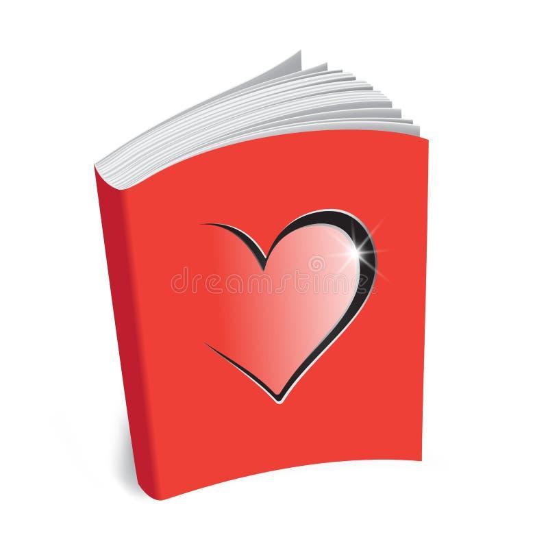 Malplaatjeboek van liefde vector illustratie