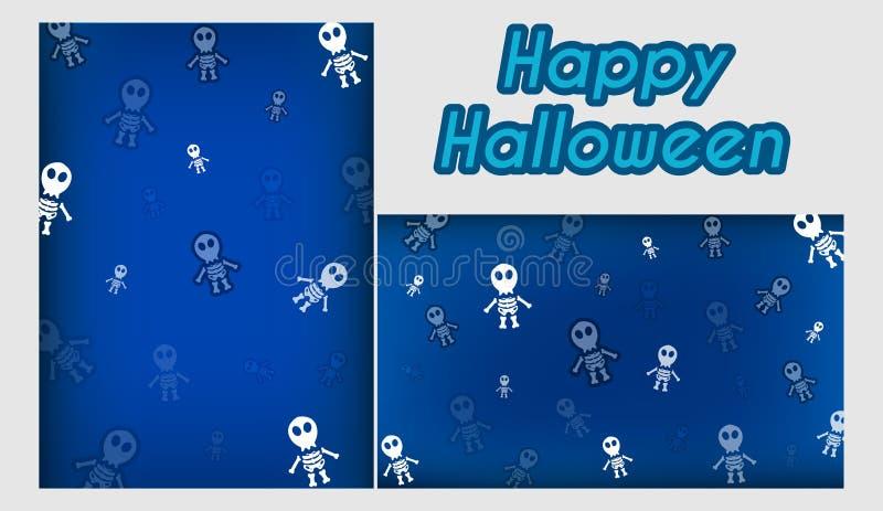 Malplaatjefestival van Halloween en Naadloos stock illustratie