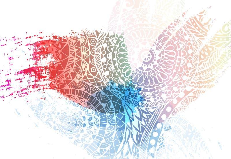 Malplaatjeontwerp voor Holi-festivalgebeurtenis Achtergrondhart van kleuren Gekleurde poedervector stock afbeelding