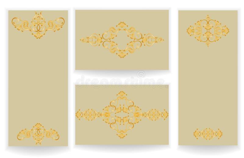 Malplaatjes met gestileerde patroonreeks vector illustratie