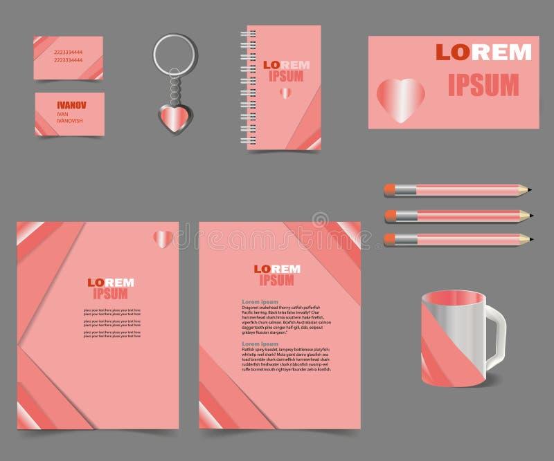 Malplaatjes van de bedrijfsstijl de roze brief voor uw projectontwerp vector illustratie