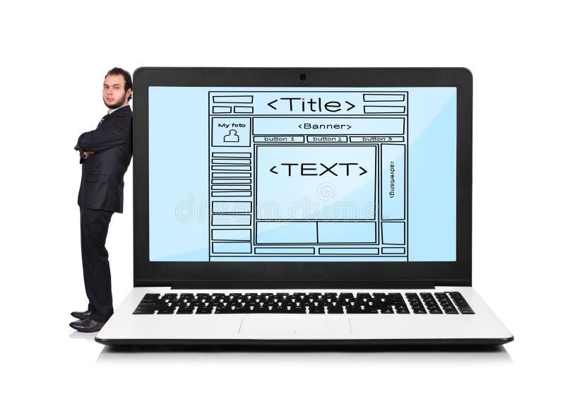 Malplaatjewebsite stock afbeelding