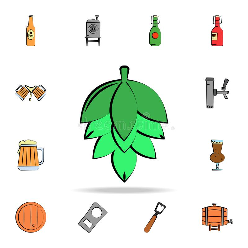 Malt colored sketch style icon. Detailed set of color beer in hand drawn style icons. Premium graphic design. One of the. Collection icons for websites, web vector illustration