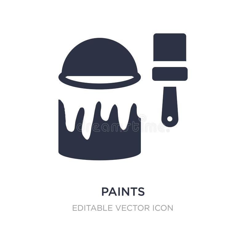 malt Ikone auf weißem Hintergrund Einfache Elementillustration vom Kunstkonzept stock abbildung