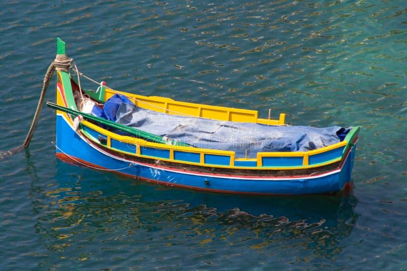 Maltańska Luzzu łódź obraz stock