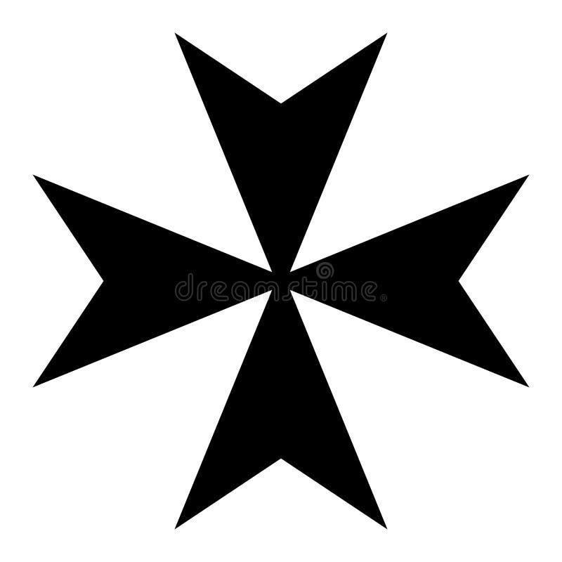 Maltańskiego krzyża symbol ilustracja wektor