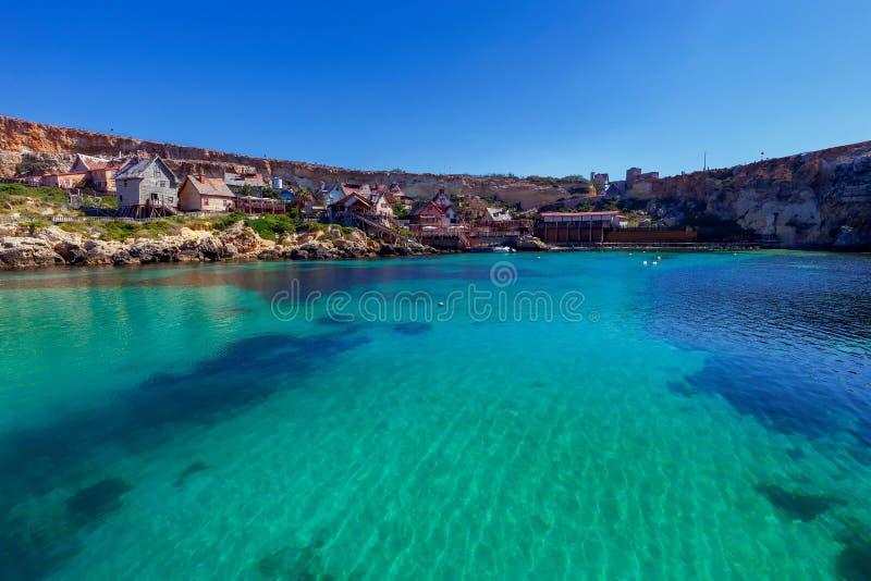 malta Деревня Popeye стоковое изображение rf