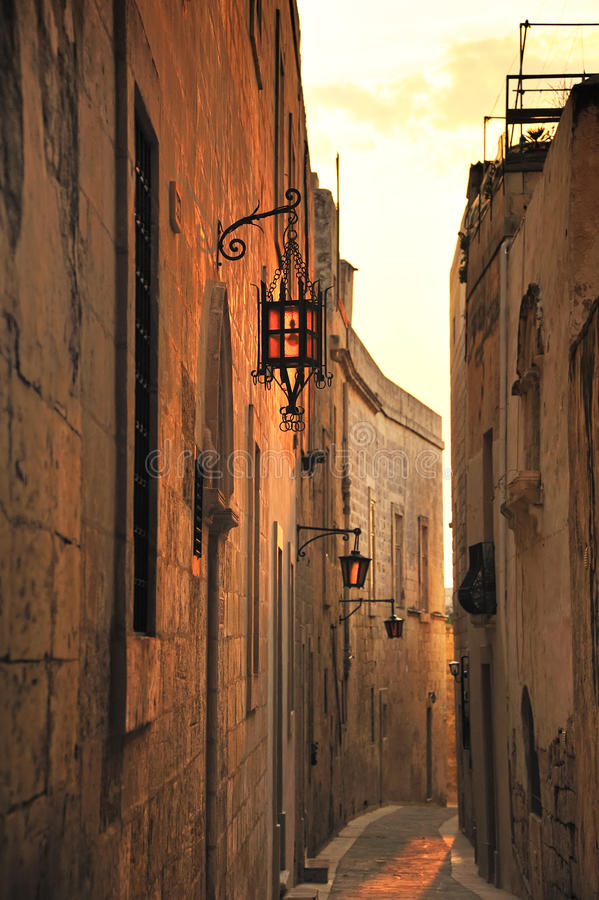 Download Malta stock image. Image of alleyway, rabat, lane, wall - 10917335