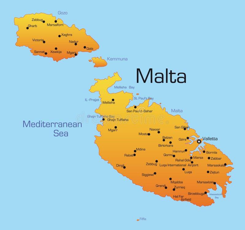Malta ilustracja wektor