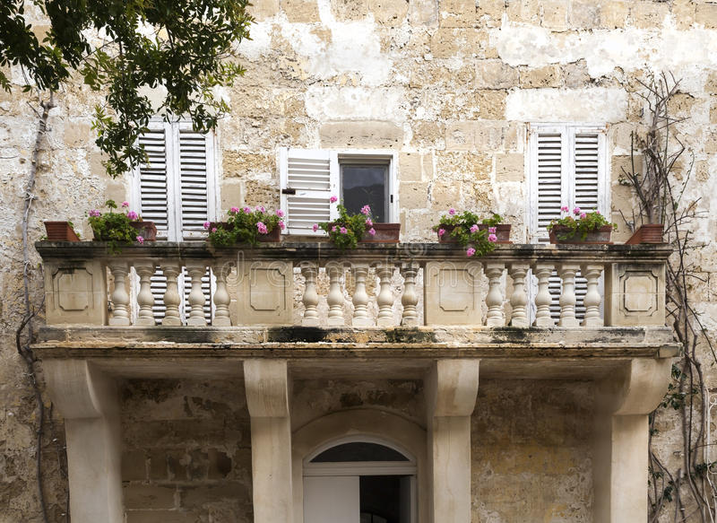 Malta balkon obrazy stock