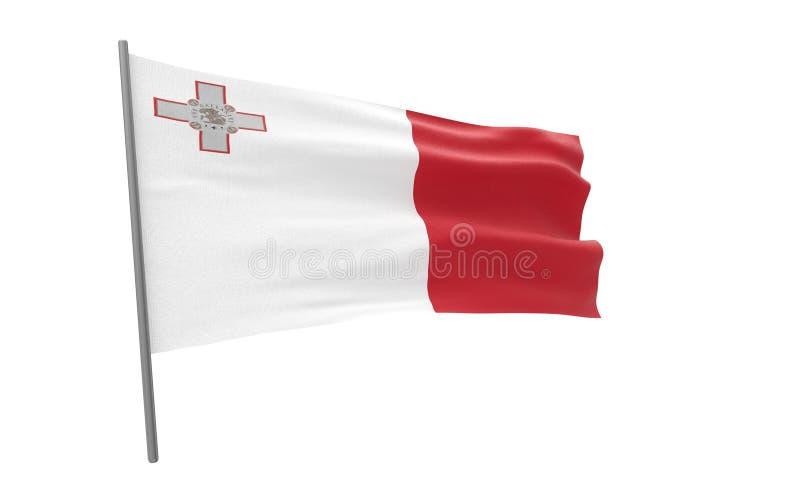 Malta bandery royalty ilustracja
