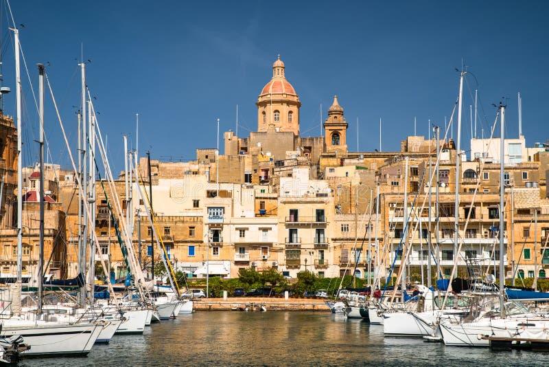 malta Birgu-Ufergegend stockfotos