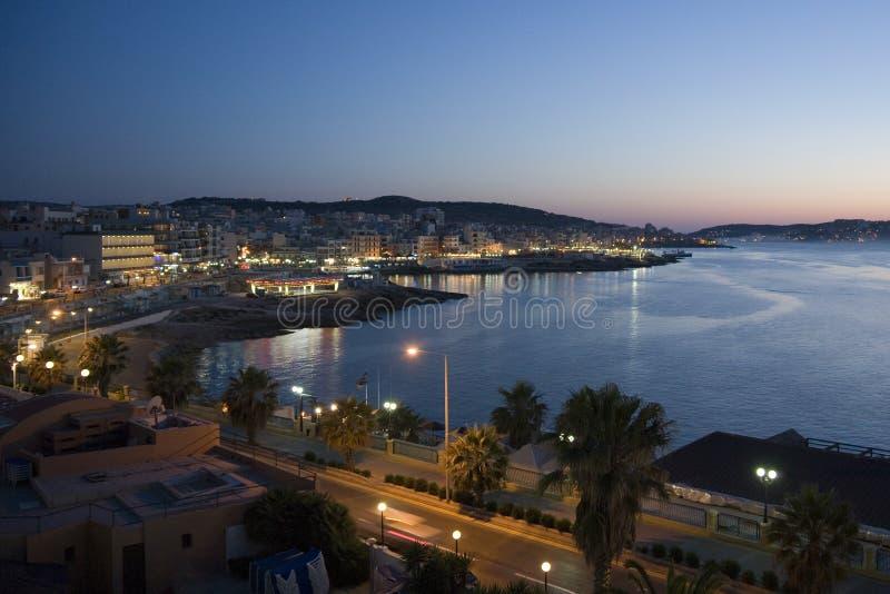Malta - Bugibba y bahía del St Pauls fotografía de archivo libre de regalías