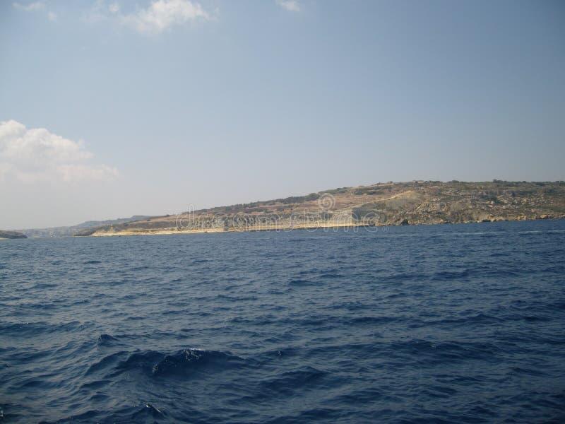 Malta coastal waters royalty free stock photo