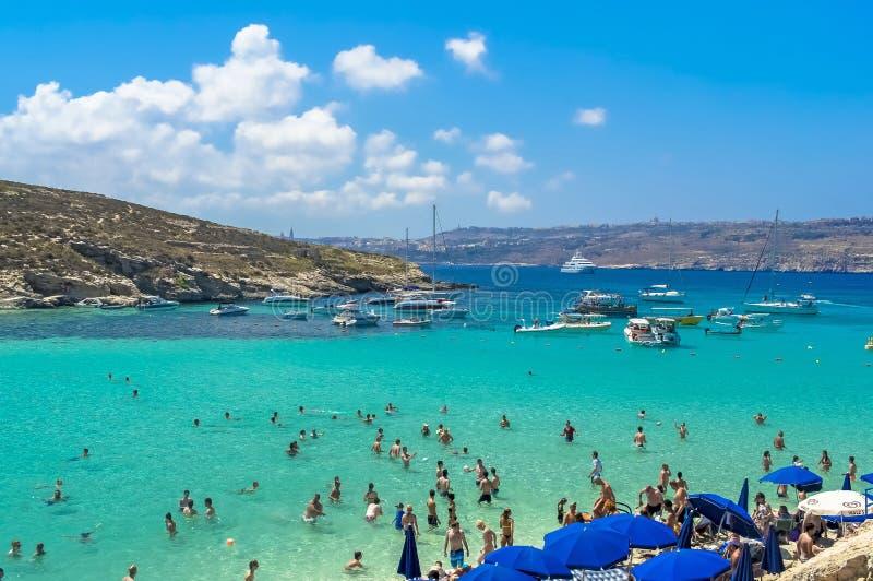 Malta, Comino, blaue Lagune stockbild
