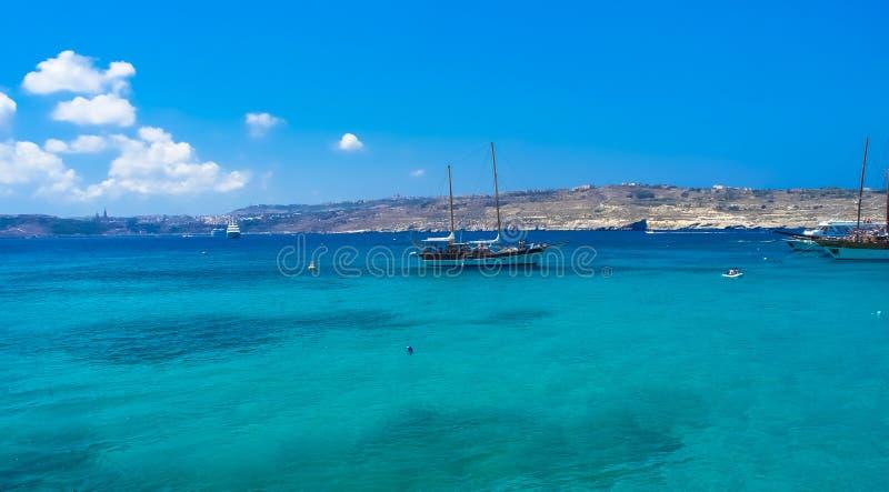 Malta, Comino, blaue Lagune stockfoto