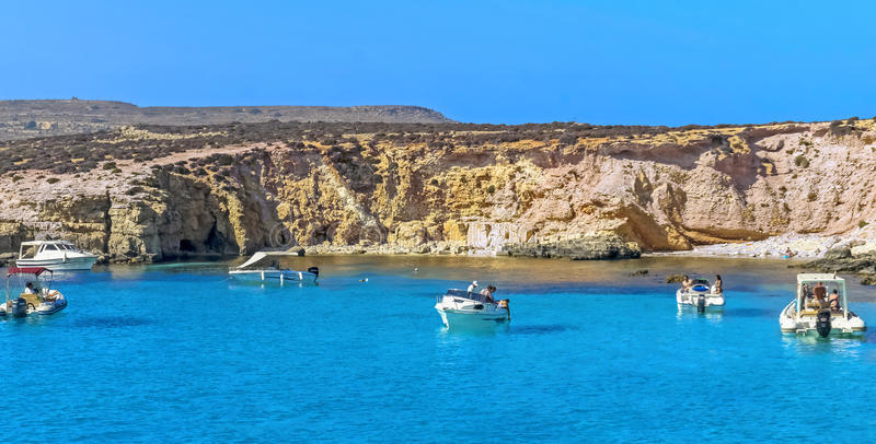 Malta, Comino, laguna blu fotografie stock