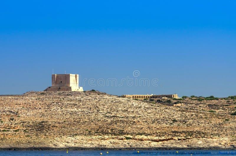 Malta, Comino wierza obrazy royalty free