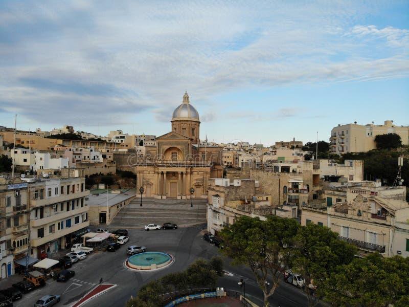 Malta de cima de Ponto novo do vief para seus olhos O lugar bonito e original nomeou Malta Para o resto, a exploração e a aventur imagens de stock royalty free
