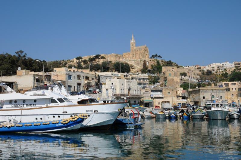 Malta den pittoreska ön av Gozo royaltyfri fotografi