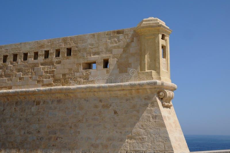 Malta den pittoreska staden av Valletta royaltyfri foto