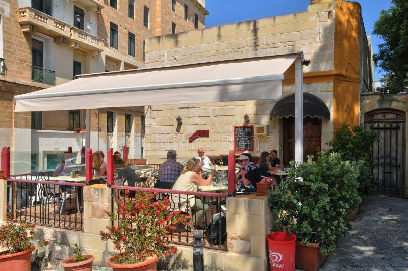 Malta den pittoreska staden av Valletta royaltyfria foton