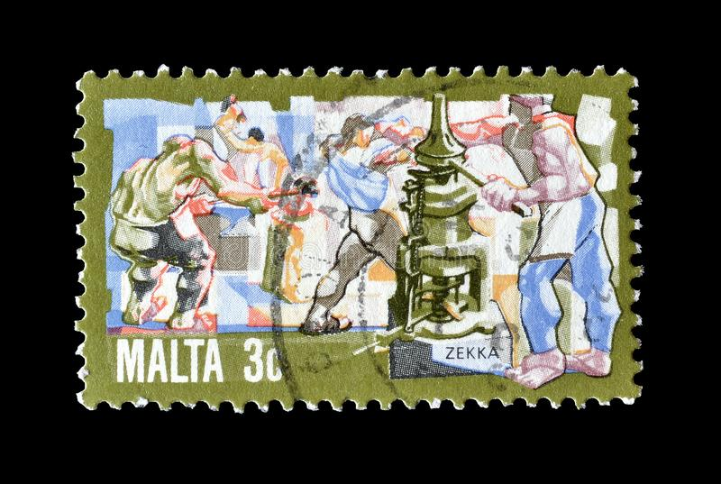 Malta em selos postais imagem de stock royalty free