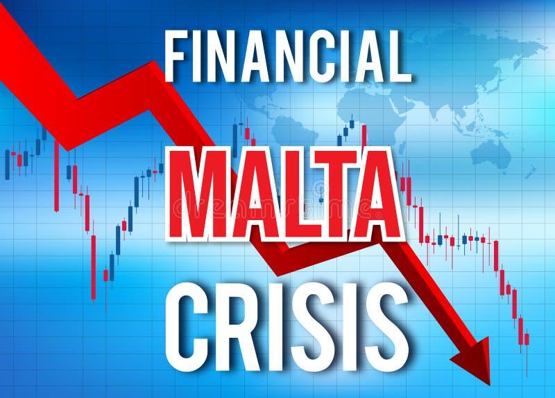 Malta Financial Crisis Economic Collapse Market Crash Global Meltdown. Illustration vector illustration