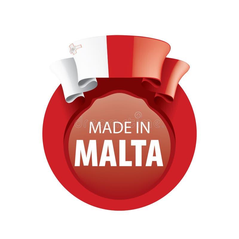 Malta flag, vector illustration on a white background stock illustration