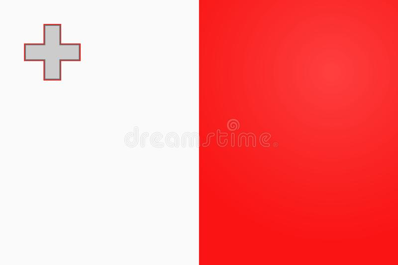 Malta flag vector. original and simple Malta flag vector in official colors and Proportion vector illustration