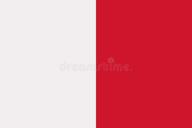 Malta flaggavektor vektor illustrationer