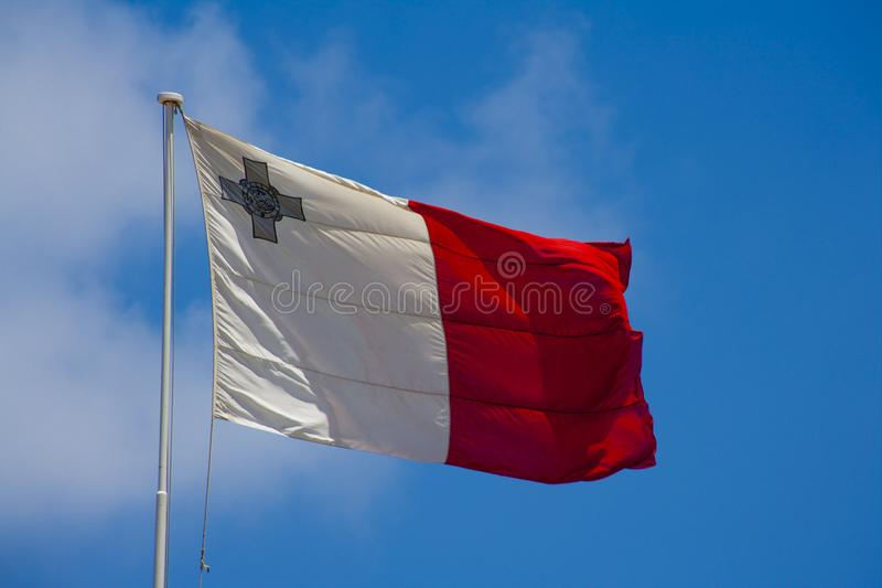 Malta-Flagge stockfotos