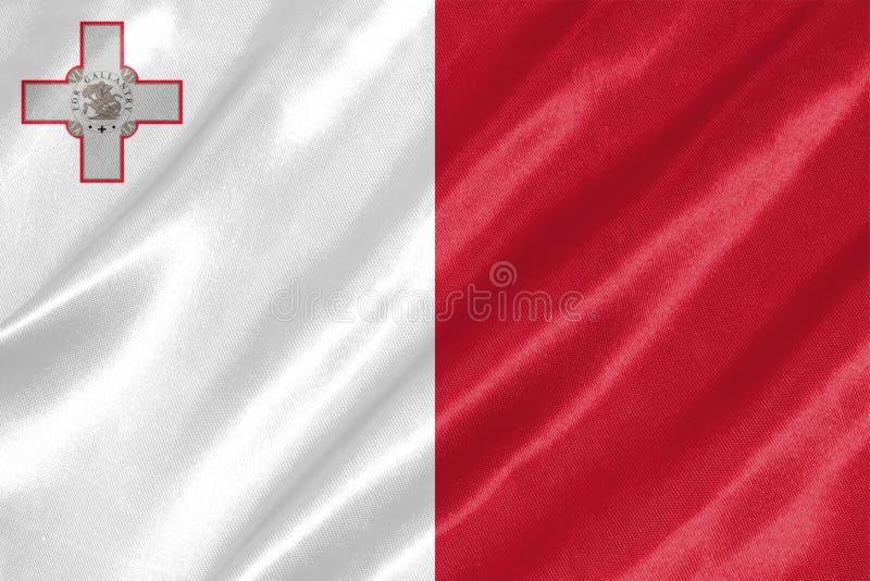 Malta-Flagge lizenzfreies stockbild