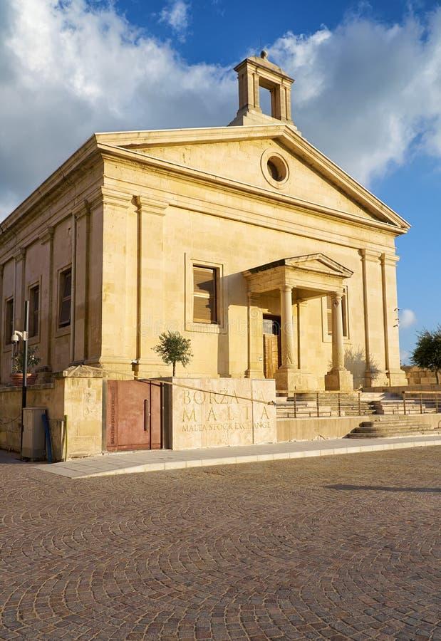 Malta giełdy papierów wartościowych Kasynowy della Borsa, Valletta, Malta zdjęcia royalty free