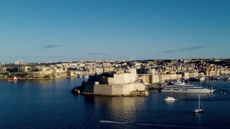 Malta-großartiger Hafen stockfotografie