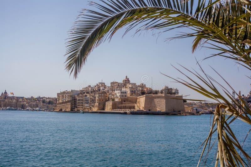 Malta hamn arkivbild