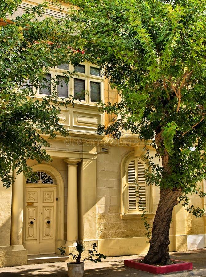 Malta-Haus des Zeichens lizenzfreies stockbild