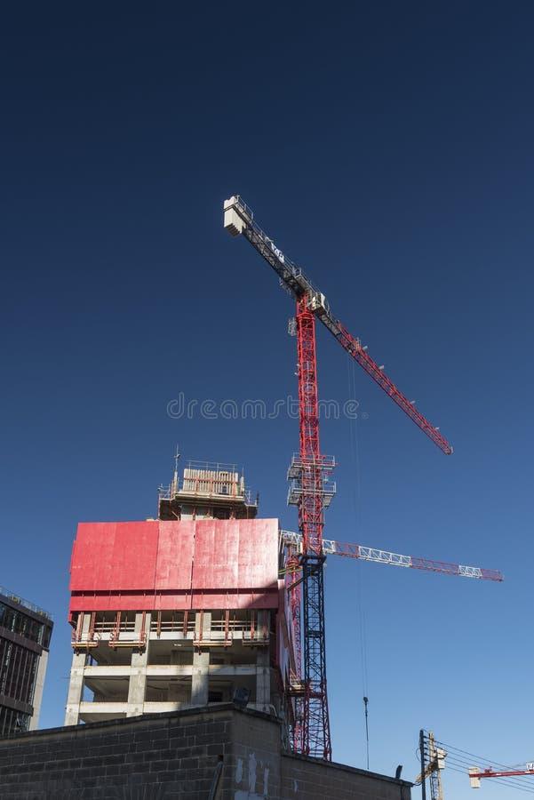Modern Modern building under construction in Sliema Malta royalty free stock image