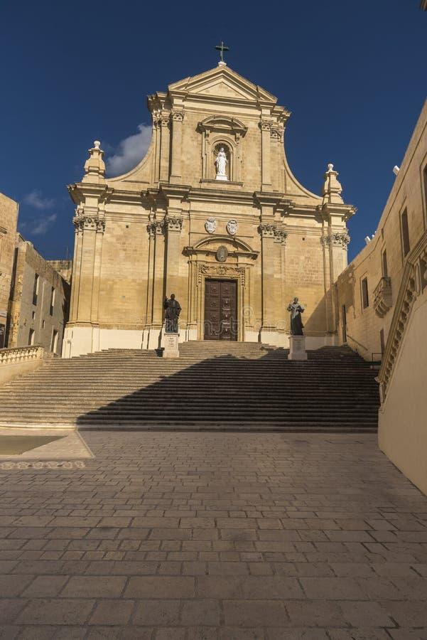 Il-Katidral ta` Għawdex Victoria Gozo. Il-Katidral ta` Għawdex 18th-century baroque cathedral erected on the site of an ancient Roman temple to Juno inside royalty free stock photos