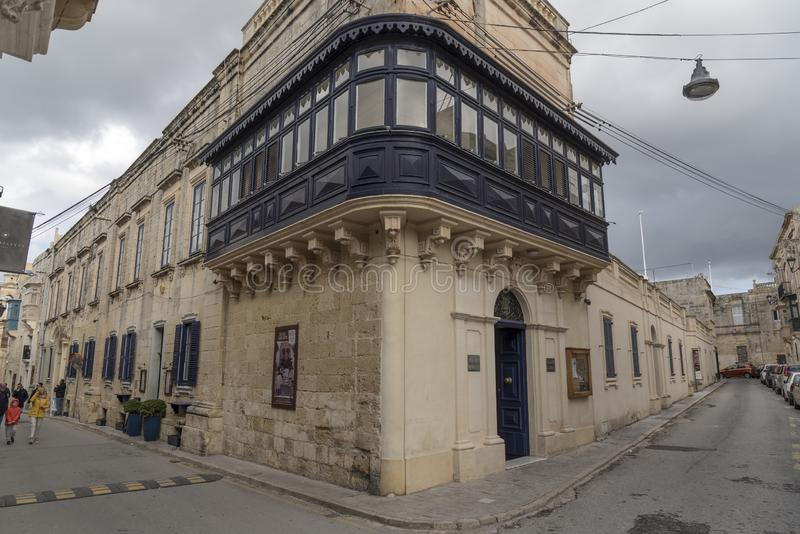 Lisle Adam band club building Palazzo Xara in Rabat Malta. Rabat is a town in the Northern Region of Malta, with a population of 11,497 as of March 2014. The stock photography