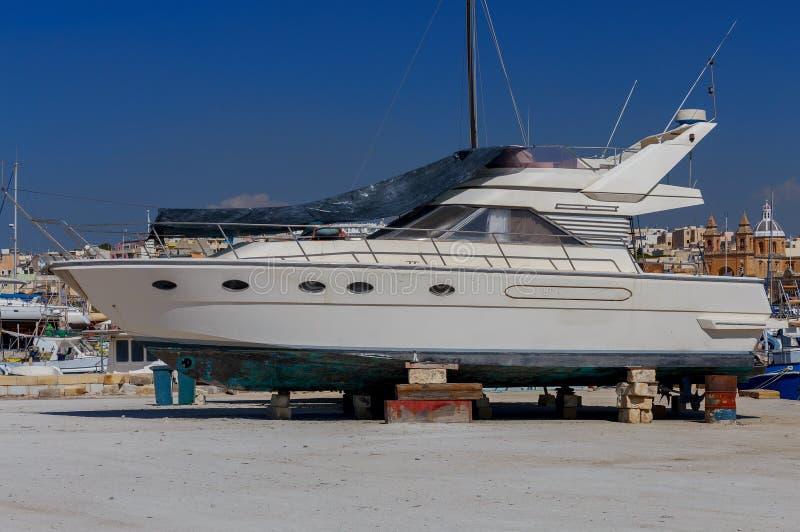 Malta Jachty na brzeg zdjęcie royalty free