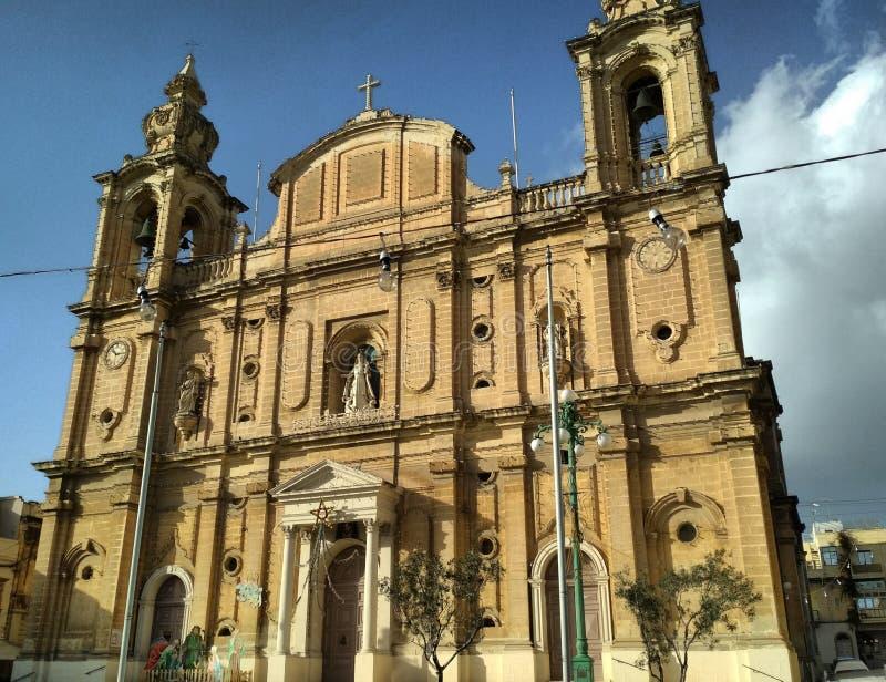 Malta-Kirche stockfotografie