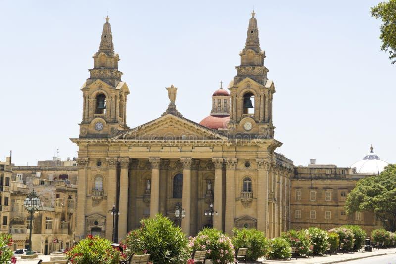 Malta-La Valletta, Kirche von St. Publius in Floriana lizenzfreies stockfoto