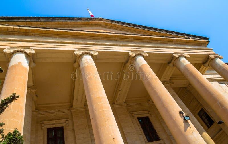 Malta Law Courts. In the republic street in Valletta stock photo